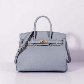 Hermes Ornate Birkin Bag Blue Lin Togo Leather 30cm Lace Flap Golden Lock Online Las Vegas