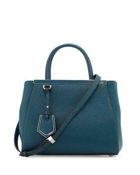 Hot Sale Fendi 2Jours Ocean Leather Medium Tote Bag Narrow Strap Modern Price List