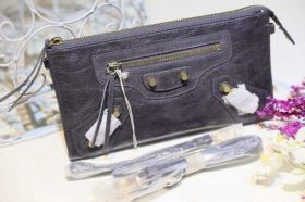 AAA Quality Balenciaga Purse Default Leather Tassel Zipper Pull Buckle Trimming Womens Shoulder Bag Black