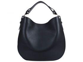 Women's Black Givenchy Obsedia Curved Base Single Flat Arm-carry Strap Medium Zanzi Hobo Bag