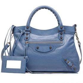 Balenciaga Classic Town Fashion Tassels Trimming Curved Top Zipper Closure Ladies Atlantique Fake Shoulder Bag