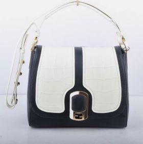 Fendi Chameleon White Crocodile Veins Leather Black Ferrari Leather Messenger Bag Price In America