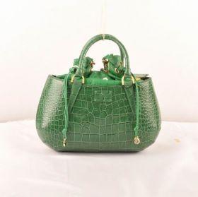 Dupe Fendi B Fab Green Crocodile Veins Leather Medium Top-handle Bag Chic Style UK