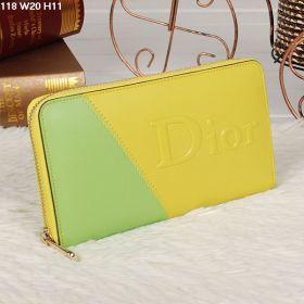 Vogue Christian Dior  Yellow/Lime  Female Colorblock Style  Zip Around Burse UK 2018 Trendy