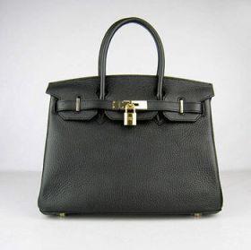 Hermes Birkin 30cm Black Togo Leather Handbag Gold-plated Lock Buckle Female Lawyer Working US Price