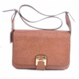Top Sale Fendi Chameleon Medium Coffee Caviar Leather Saddle Messenger Bag Slim Flap Good Prices