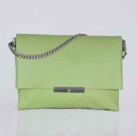 Hot Style Celine Blade Flap Silver Zipper Pocket Womens Light Green Chain Square Messenger Bag
