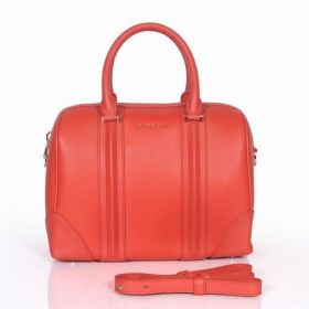 Low Price Givenchy Lucrezia Leather Bar Trimming Detachable Shoulder Strap Ladies Cherry Red Boston Bag