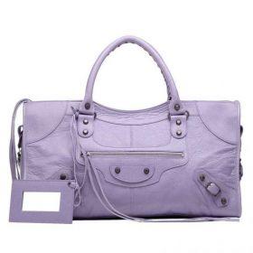 Good Reviews Balenciaga Classic Part Time Leather Tassel Trimming Ladies Top-handles Rectangle Shoulder Bag Glycine