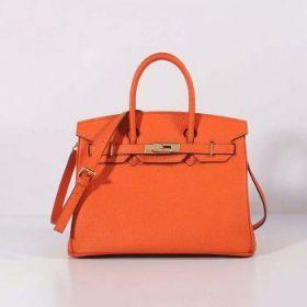 Hermes Birkin 30cm Orange Togo Leather Bag Flap Closure Golden Lock Fake On Sale India