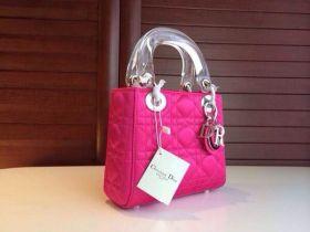 Chic Christian Dior Mini Lady Dior Rosy Tote Bag Fashion Crystal Handlebars Style E-Shop GB