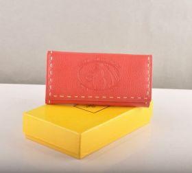Fendi Selleria Light Red Calfskin Leather Modern Long Wallet Classy Women America On Sale