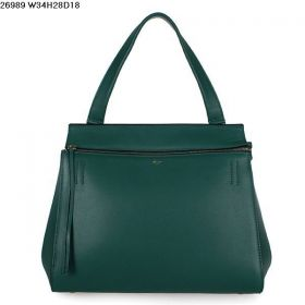 Good Price Celine Edge Single Arm-carry Strap Golden Hardware Green Calfskin Leather Ladies Tote Bag