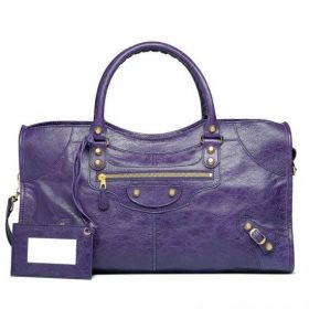 Cheapest Balenciaga Giant 12 Part Time Rose Gold Studs & Buckle Motif Purple Top-handles  Ladies Shoulder Bag
