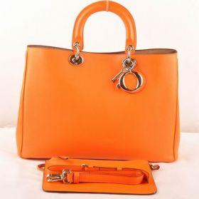 Wholesale Christian Dior Diorissimo Golden Hardware Shoulder-Bag  Dual-Tote Design Orange Nappa-Style REF 09-MA-0112