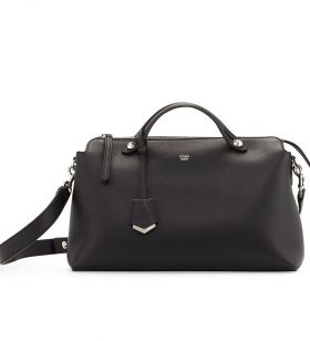 Fendi Large By The Way Black Satchel Bag Leather Trim Price Malaysia Business Trip Review 8BL1251D5F0GXN