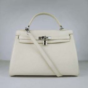 Top Sale Hermes Kelly 32cm Beige Togo Leather Handbag Silver Padlock Elegant Lady Singapore Price