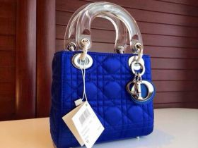 Christian Dior Lady Dior Crystal Totes Royal Blue Cannage-Style Tote Bag  2019 Valentine Gift