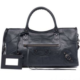 Good Price Balenciaga Old Brass Studs Buckle Trimming Classic Part Time Female Shoulder Bag Black