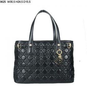Christian Dior Panarea  Tri-Compartments  Golden Hardware Shoulder Bag  Black Double Top-Handle Chic Girls Canada