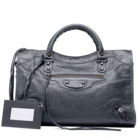 AAA Quality Balenciaga Classic Genuine Leather City Bags Leather Framed Hand-Mirror For Womens