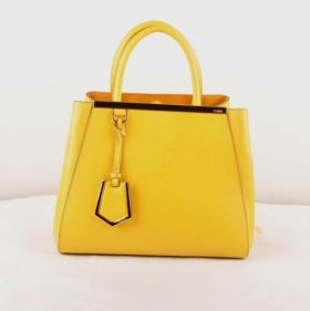Fendi 2jours Small Yellow Cross Veins Leather Bag Colorful Party 2018 Price List Paris