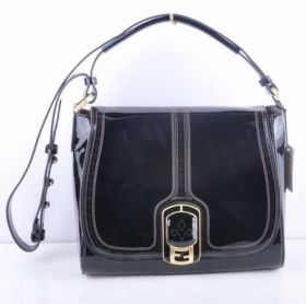 Fendi Chameleon Black Patent Leather Messenger Bag Luxury Style Four Season Sale New York