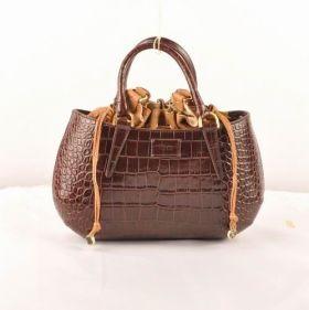 Top Selling Fendi B Fab Medium Dark Coffee Crocodile Veins Leather Bag Review Australia