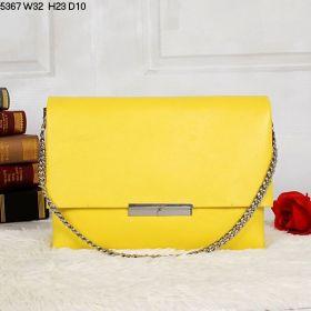 Low Price Celine Blade Lemon Yellow Soft Calfskin Leather Square Slip-over Flap Crossbody Bag For Girls