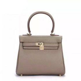 Hermes Kelly Grey Togo Leather 25cm Top-handle Bag Golden Lock Buckle Price In Sydney Lady