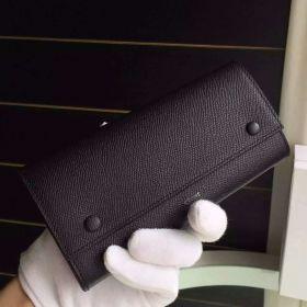 Hot Selling Celine Black Epsom Leather Central Zipper Pocket Womens Long Flap Multifunction Wallet 101673AFE.38NO