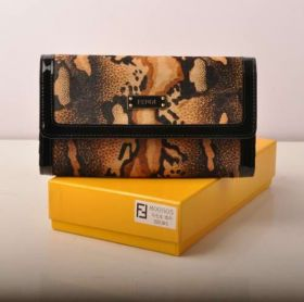 Best Selling Fendi Coffee Horsehair Leather Wallet Gorgeous Style Celebrity NYC Women Sale