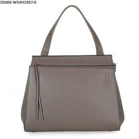 Fashion Trends Celine Edge Wide Bottom Flat Handle Womens Calfskin Leather Crossbody Bag Khaki Online