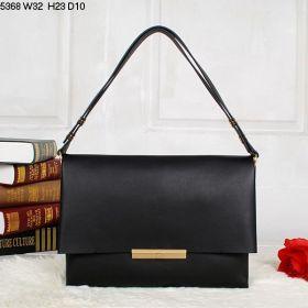Celine Blade Yellow Gold Hardware Central Zipper Compartment Womens Calfskin Flap Crossbody Bag Black UK