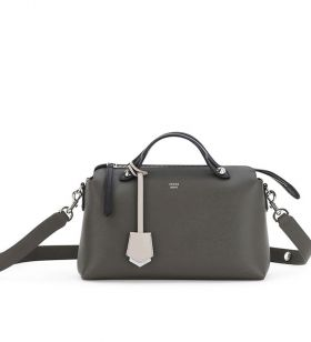 Fendi By The Way Phony Gray Leather Single Handle Small Satchel Bag Vintage Price List
