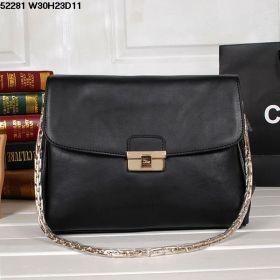 Christian Dior Clone Diorling Black Calfskin-Quality Leather Shoulder Bag Golden-Strap Fold-Flap Style Online