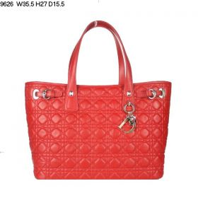 Christian Dior Panarea Single-Compartment Minimalist Lambskin-Quality Red Leather Shoulder Bag  Roomy Space Office Lady