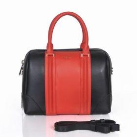 Good Quality Givenchy Lucrezia Bi-color Leather Top Handles Zipper Closure Womens Crossbody Bag Red/Black Replica