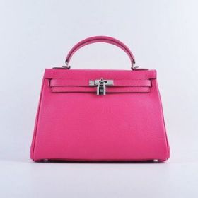 Hermes Kelly Rose Togo Leather 32cm Bag Silver Lock Buckle Flap Closure Celebrity Review Malaysia