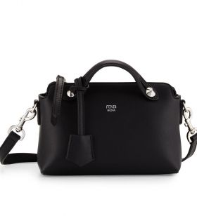 Fendi By The Way Black Leather Mini Satchel Bag Business Style Good Price