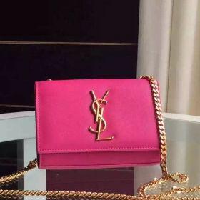 2018 Summer Saint Laurent Ladies Small Rosy Leather Yellow Brass Monogram Chain Satchel Bag In UK