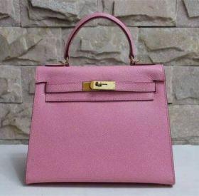 Hermes Kelly Golden Buckle Pink Epsom Leather Handbag 28cm Top Handle Price In Singapore