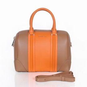 Model Givenchy Lucrezia Top Handles Golden Zipper Closure Womens Small Boston Bag Orange/Brown