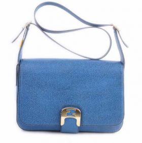 Fendi Chameleon Blue Caviar Leather Medium Replica Saddle Messenger Bag Journey Party Girls Gift