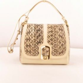 Best Selling Fendi Phony Chameleon Beige Snake Veins Leather Ferrari Leather Messenger Bag Lady Gift