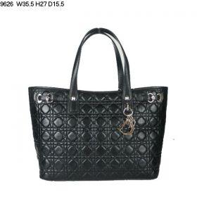 Replica Christian Dior Panarea Lambskin-Quality Leather Black Shoulder Bag Shopping Fashion Office Girls Gift GB