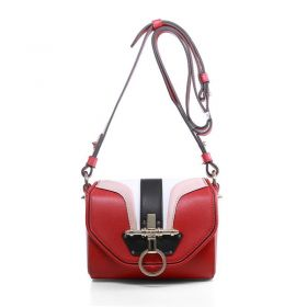 Givenchy Obsedia Studs Detail Tri-color Flap Ladies Red Original Calfskin Small Turn-lock Shoulder Bag For Sale