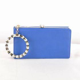 Bvlgari Serpenti Blue Original Calfskin Leather Popular Golden Frame Ladies Long Clutch Bag For Sale