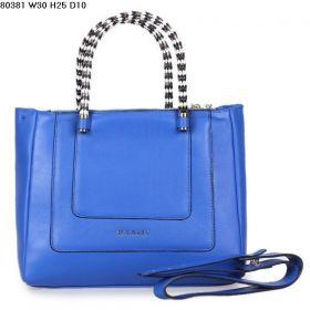 Bvlgari Serpenti Blue Leather Serpentine Top Handles Womens Crossbody Bag 30CM Price In US