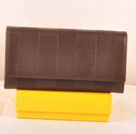 Fashion Fendi Coffee Cozy Calfskin Leather Long Wallet Women Online Shop Dubai